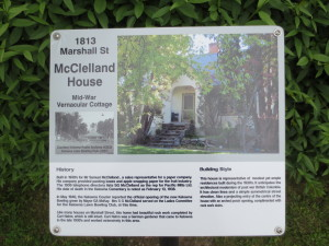 Deb Helf's heritage sign on Marshall St